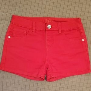 Girls Bright Red Stretch Shorts from Justice